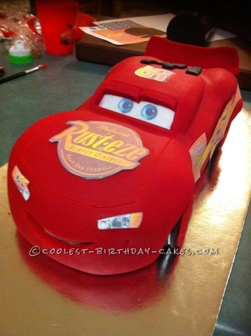 Coolest Lightening McQueen Cars Birthday Cake
