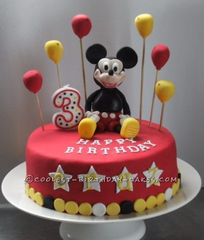 Marvelous 12 Coolest Mickey Mouse Cake Ideas Coolest Birthday Cakes Personalised Birthday Cards Veneteletsinfo