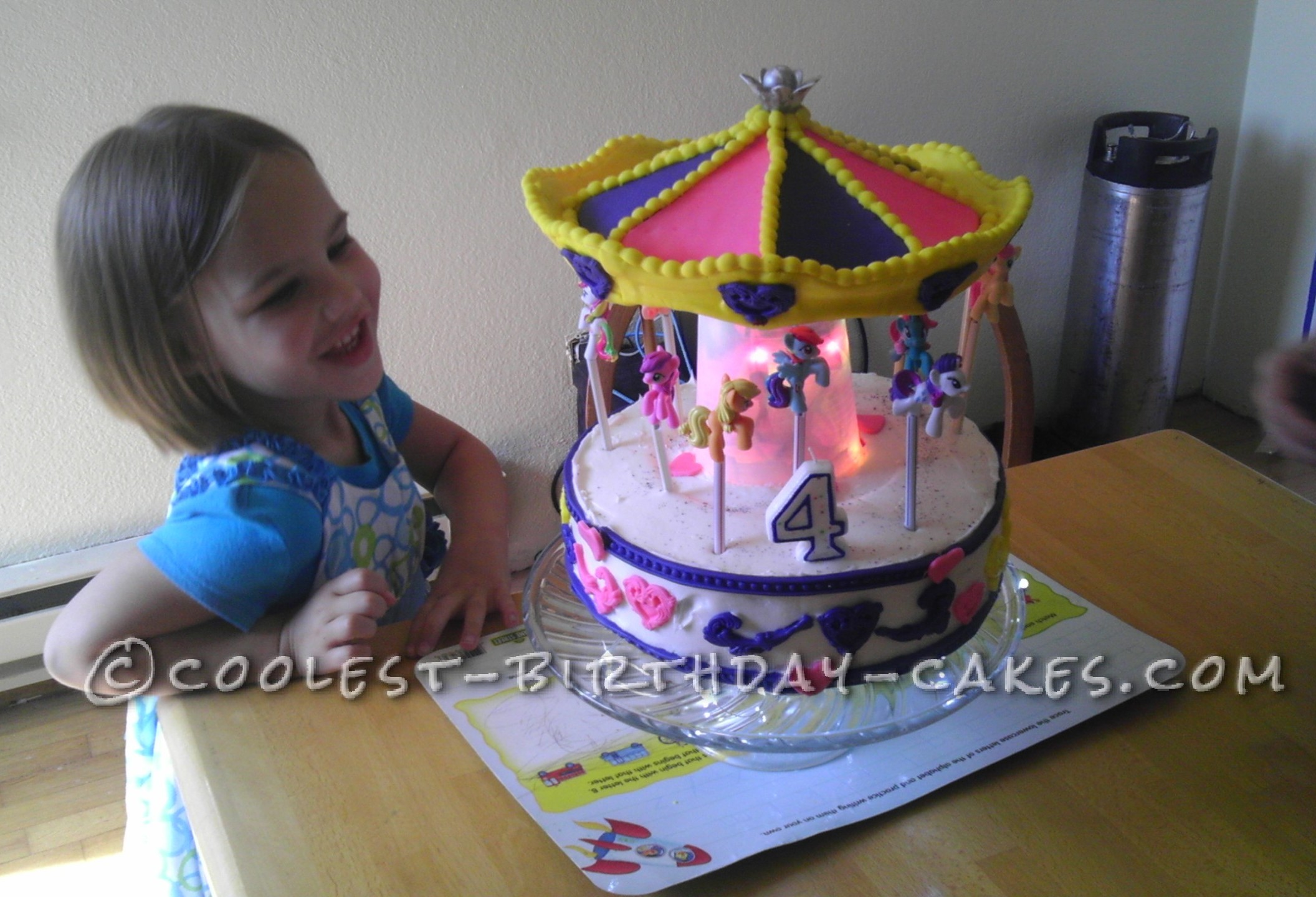 Coolest My Little Pony Carousel Cake
