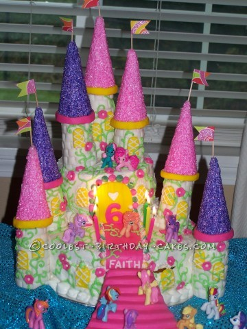 Cool My Little Pony Castle Cake