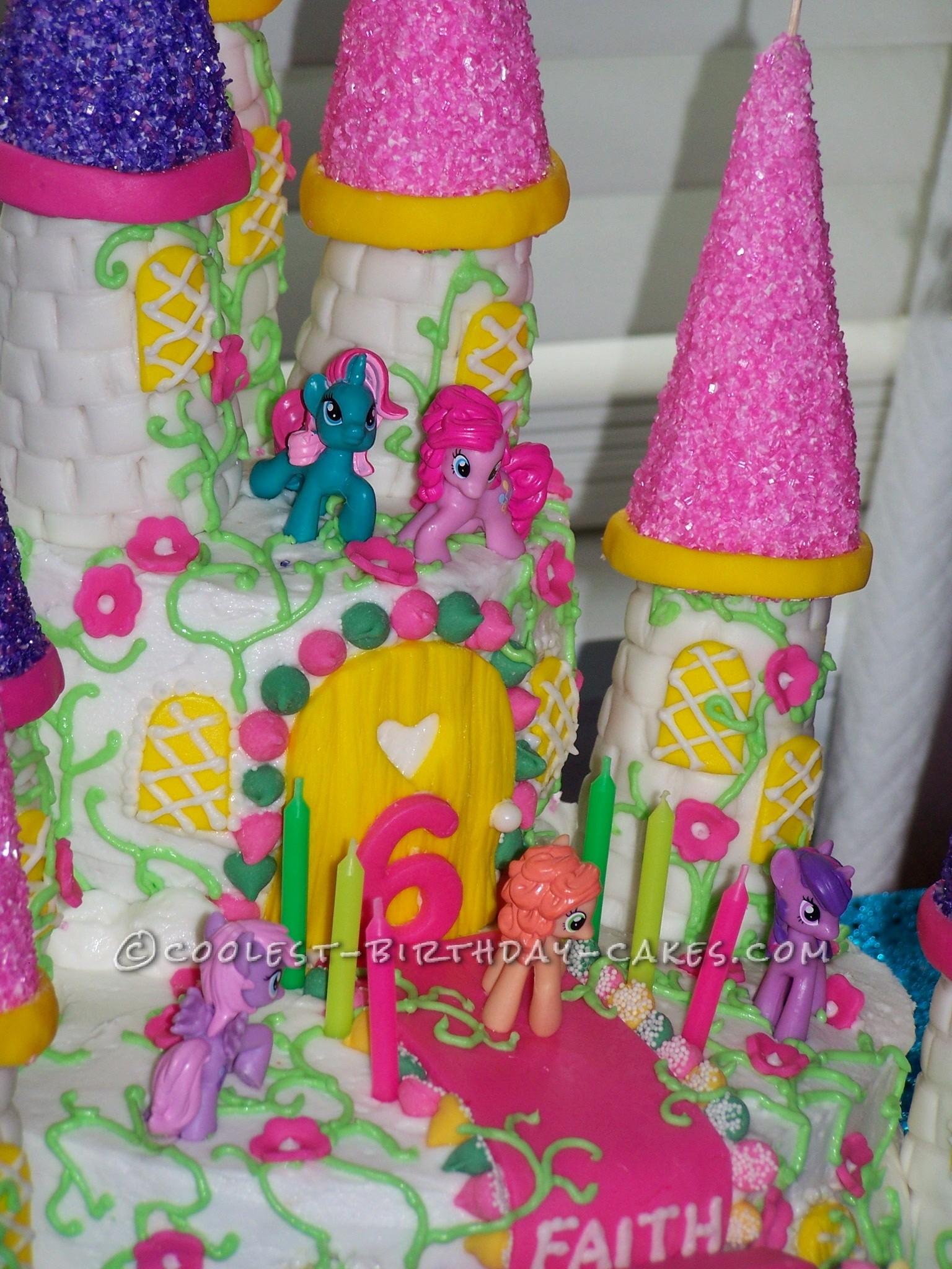 Cool My Little Pony Castle Cake