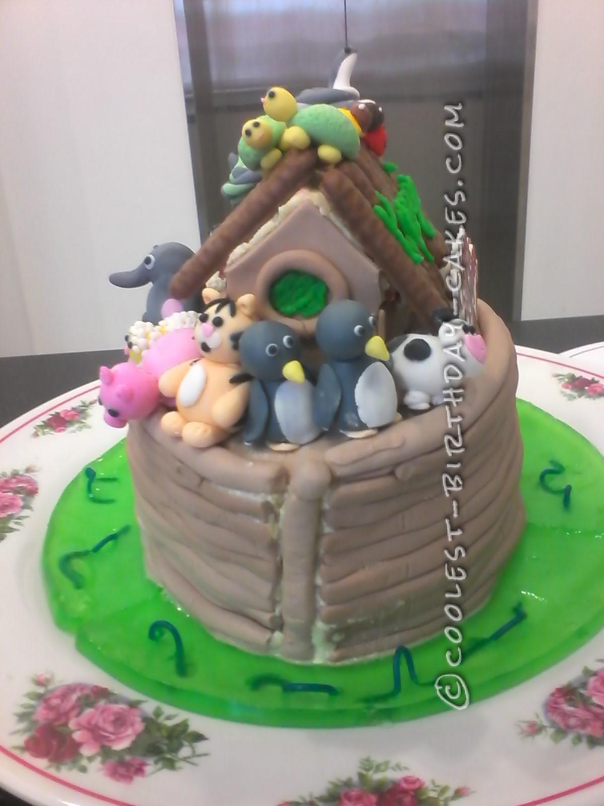 Coolest Noah's Ark Birthday Cake