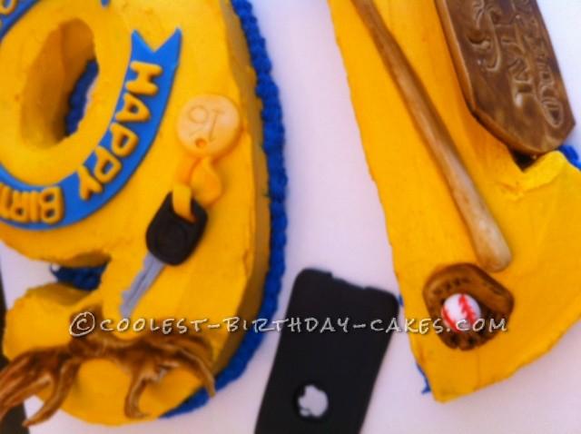 Coolest Number 16 Birthday Cake