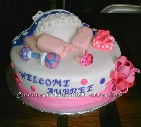 Coolest Ruffle Baby Rump Cake