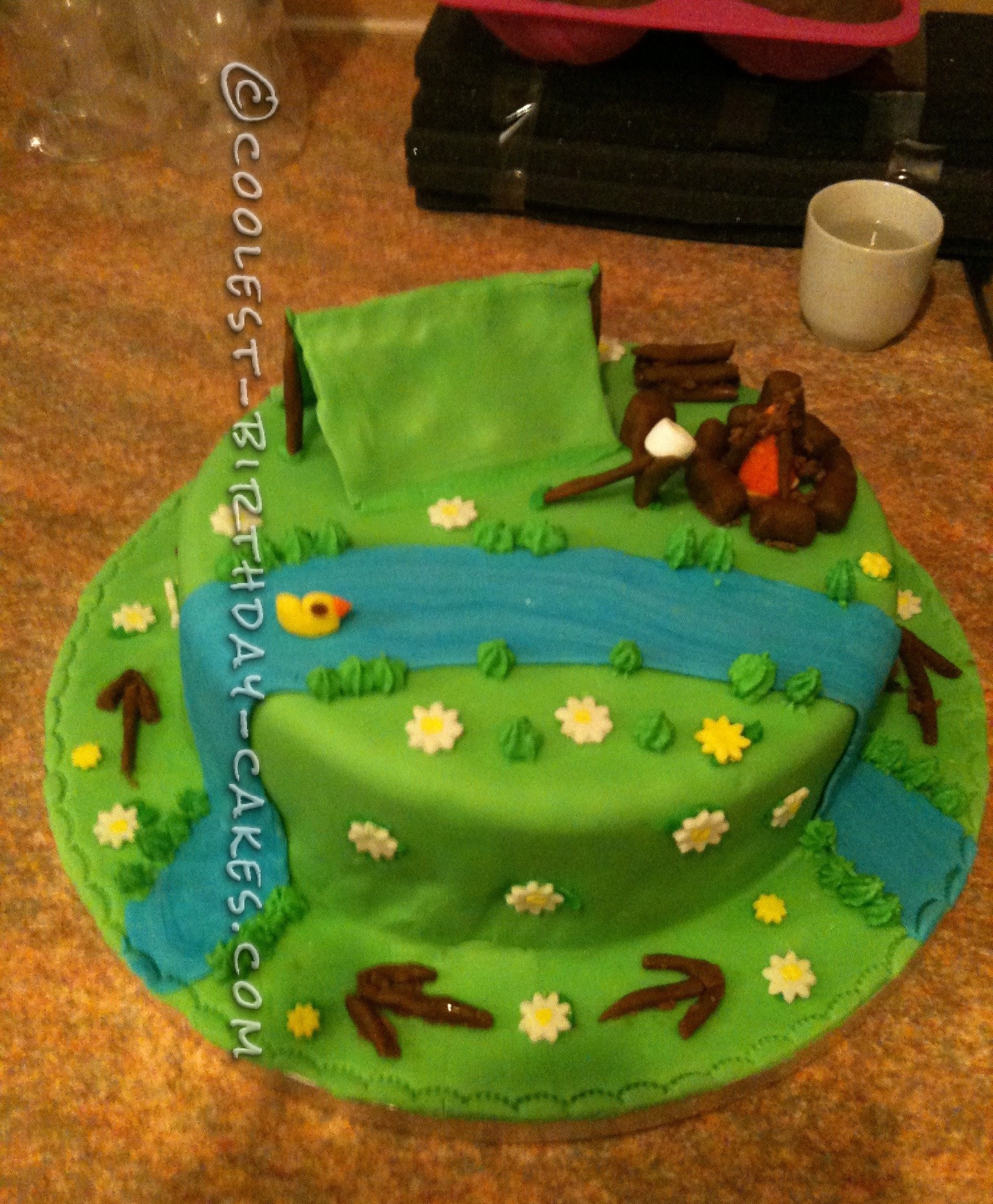 Coolest Scout Camp Cake