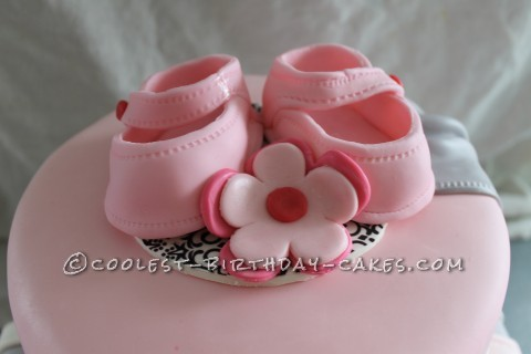 Cool Shabby Chic Baby Shower Cake