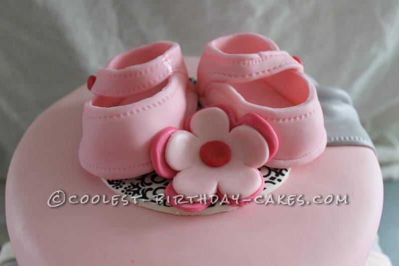Cool Shabby Chic Baby Shower Cake