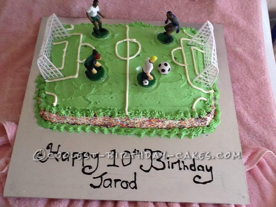 Coolest Soccer For Ten Birthday Cake
