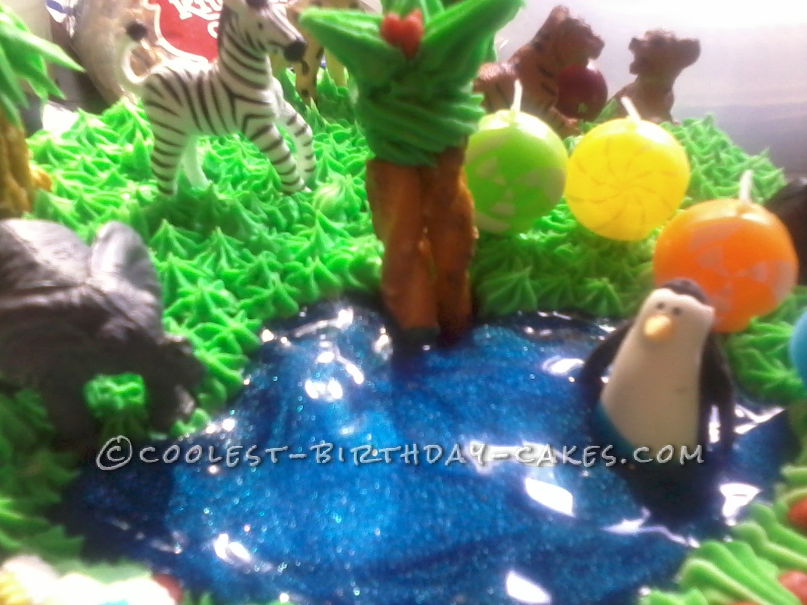 Coolest Zoo Party Animals Birthday Cake