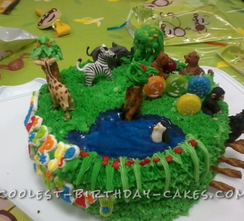 Prime Coolest Zoo Party Animals Birthday Cake Funny Birthday Cards Online Amentibdeldamsfinfo