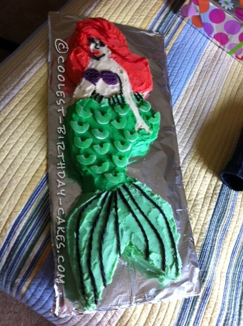 Ariel Mermaid Cut Out Cake