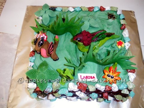 Enjoyable Awesome Dragonvale Cake For 10 Year Old Girl Coolest Birthday Cakes Birthday Cards Printable Giouspongecafe Filternl
