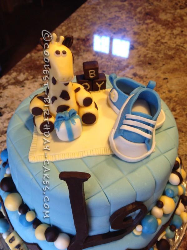 Coolest Baby Boy 'Converse' Shower Cake