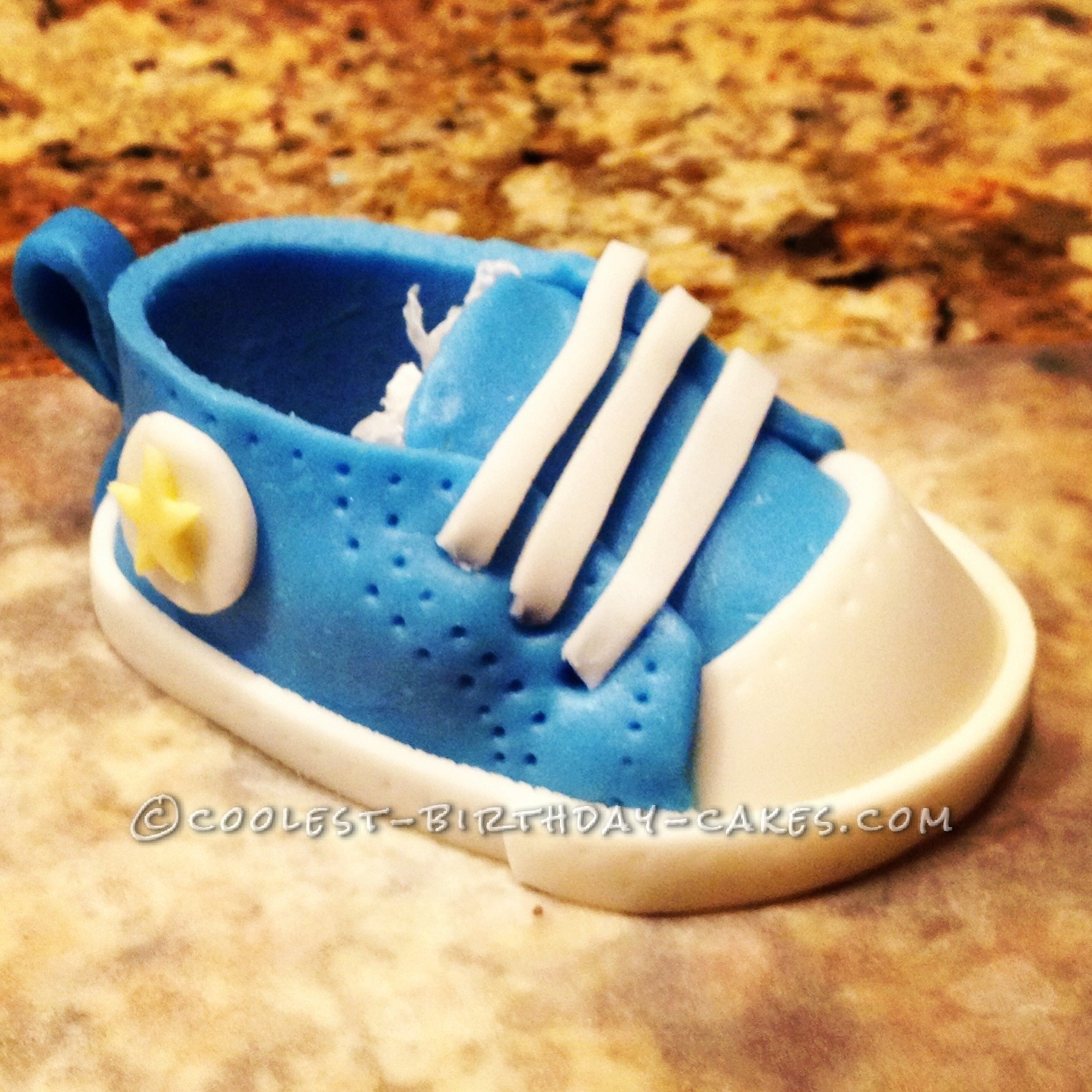 Coolest Baby Boy 'Converse' Shower Cake
