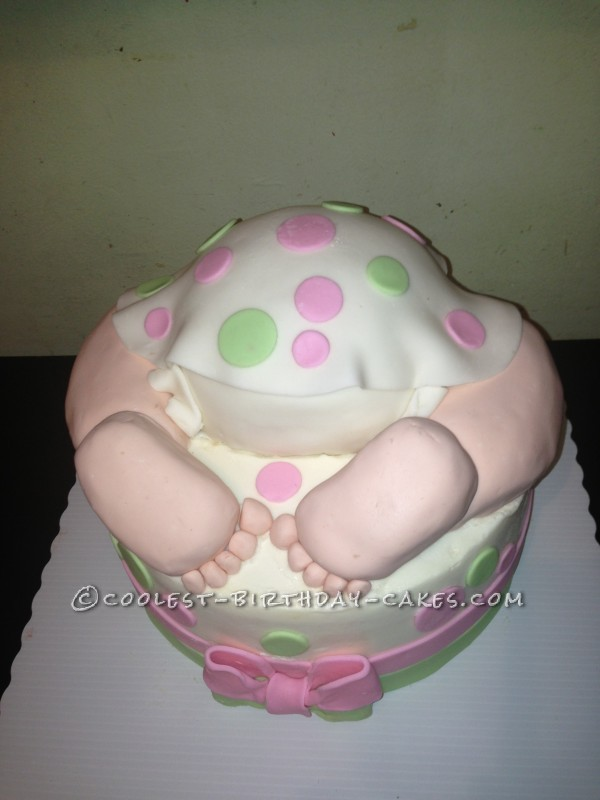 Coolest Baby Bun Cake for a Baby Shower