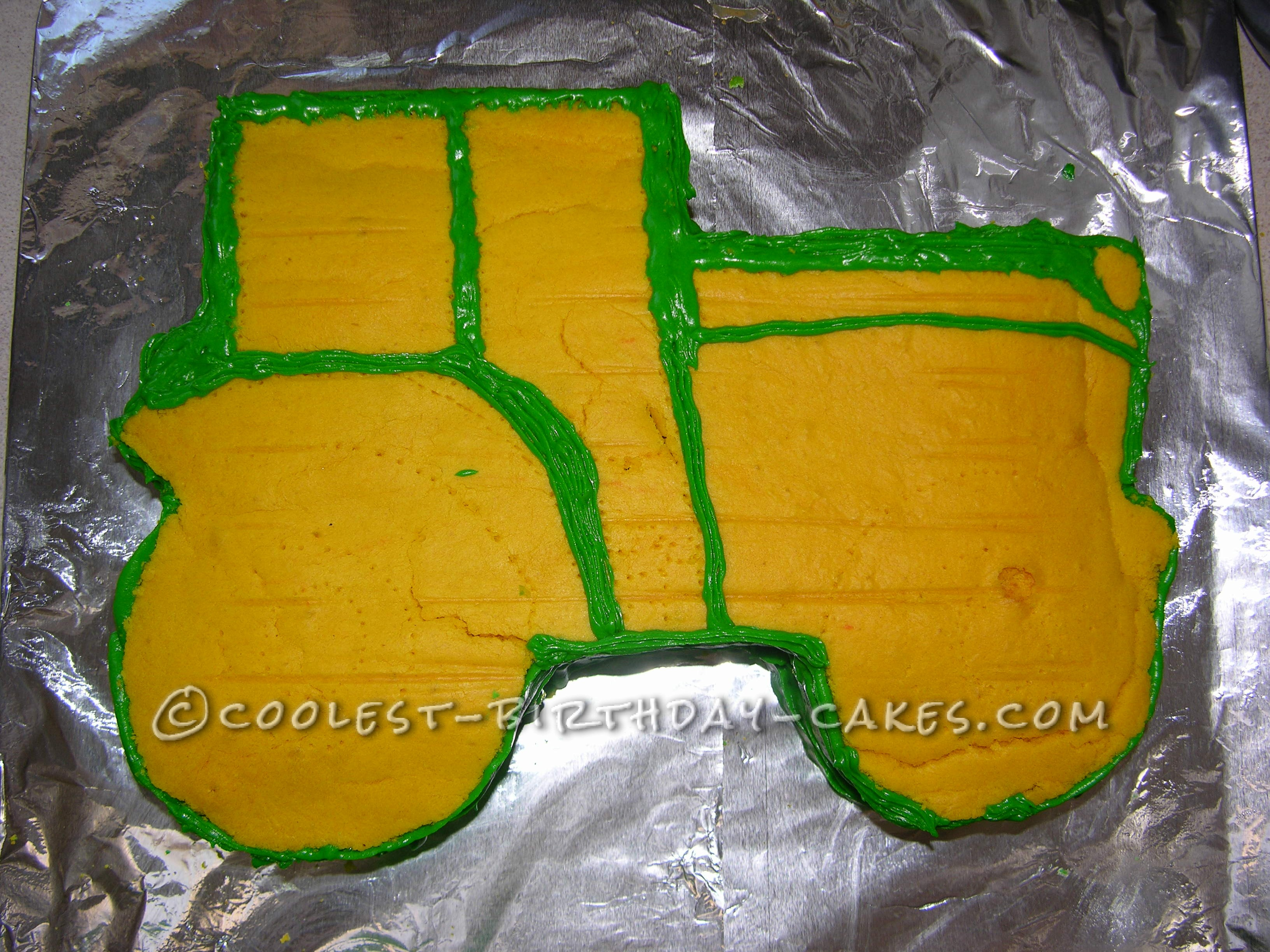 Freestyle Tractor Birthday Cake