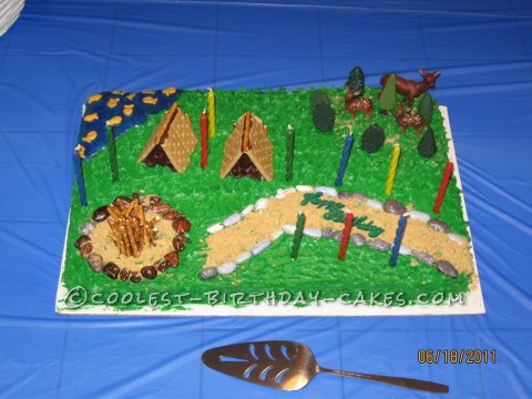 Boy Scout Fun Birthday Cake