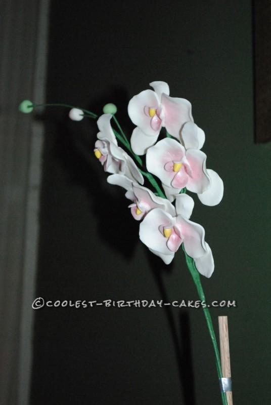 Gum paste orchids