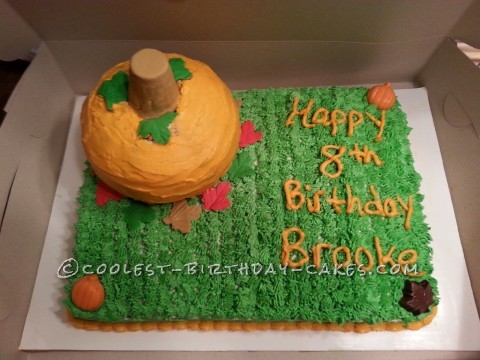Coolest Fall Pumpkin Birthday Cake