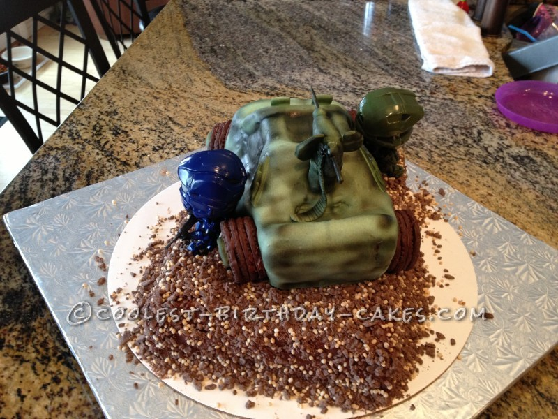 Awesome Coolest Homemade Halo Cakes Funny Birthday Cards Online Alyptdamsfinfo