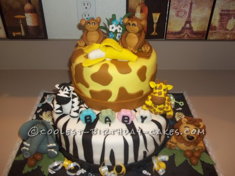Coolest Jungle Safari Baby Shower Cake