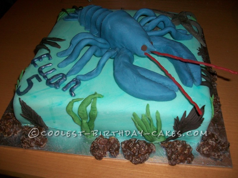 Coolest Lobster Birthday Cake For A 5 Year Old Boy