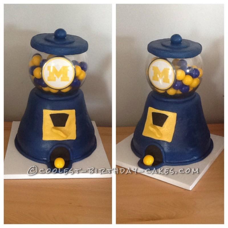 MI Gum ball Machine Cake