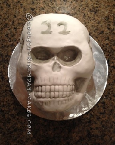 Coolest Homemade Skull Cake for a Birthday