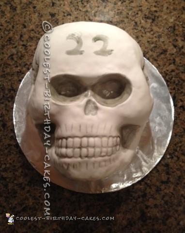 Coolest Homemade Skull Cake for a Birthday
