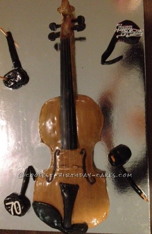 Coolest Violin Cake