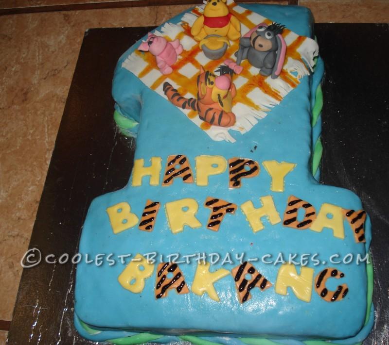 Superb Winnie The Pooh And Friends 1St Birthday Cake Funny Birthday Cards Online Chimdamsfinfo