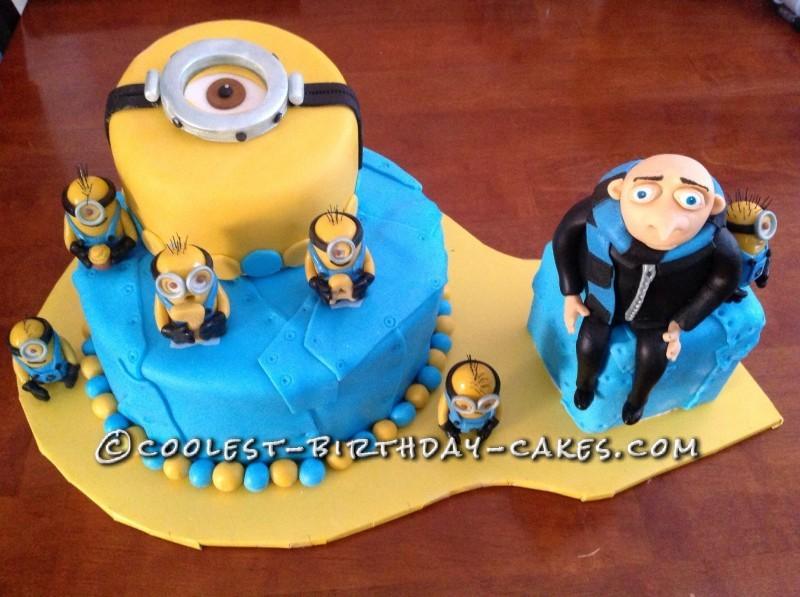Minion Birthday Cake Edinburgh Image Inspiration of Cake and