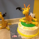 Coolest Dr. Seuss Giraffe Birthday Cake