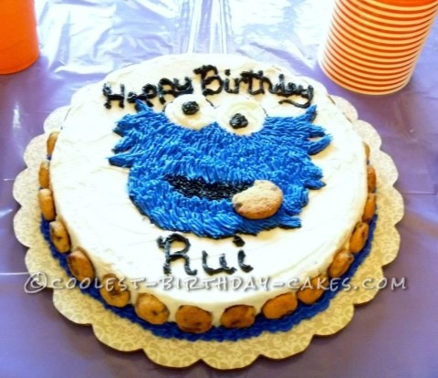 Easy Cookie Monster Birthday Cake
