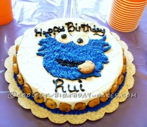 Easy Cookie Monster Birthday Cake
