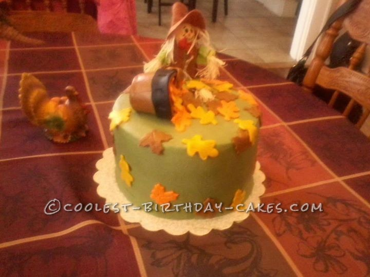 Fall Leaves Cake