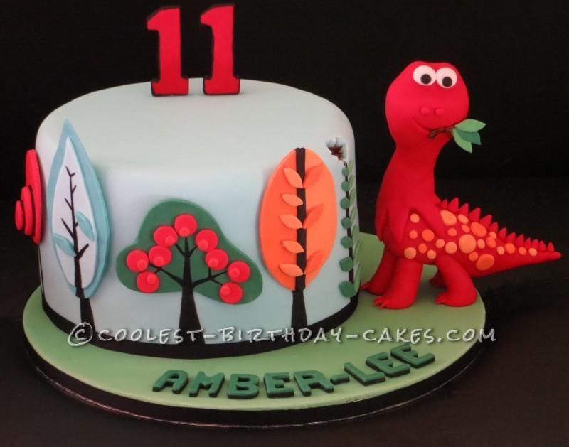 Astonishing Awesome Funky Dinosaur Tree Birthday Cake Personalised Birthday Cards Arneslily Jamesorg