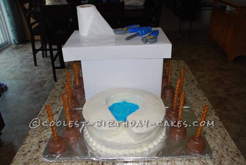 Funny Homemade Toilet with Plungers Cake
