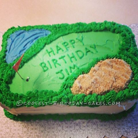 Coolest Golf Course Birthday Cake
