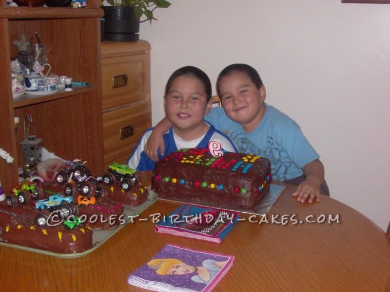 Homemade Monster Truck Cake for Kevin