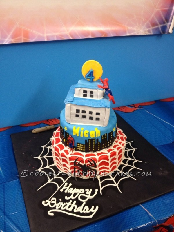 Micah's Superhero Spiderman 4th Birthday Cake