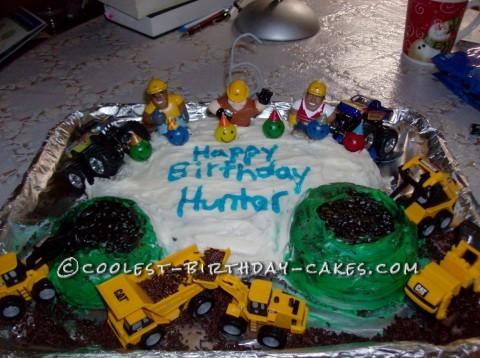 Homemade Monster Truck Cake