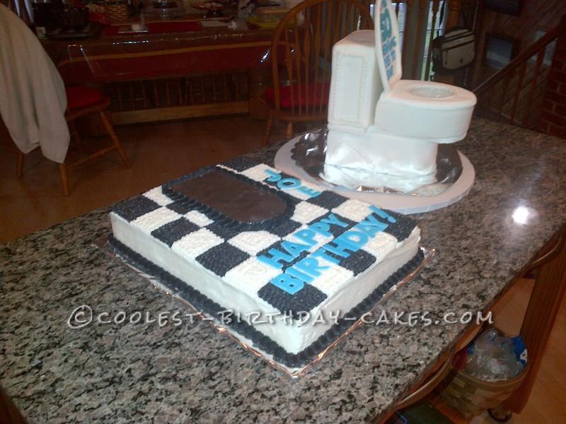Awesome Party Toilet Birthday Cake
