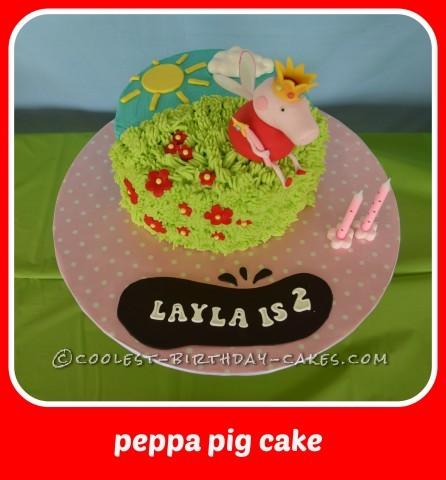 Coolest Peppa Pig Fairy Cake