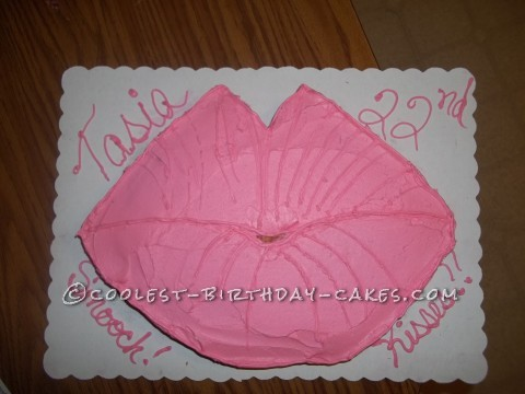 Coolest Pink Lips Birthday Cake