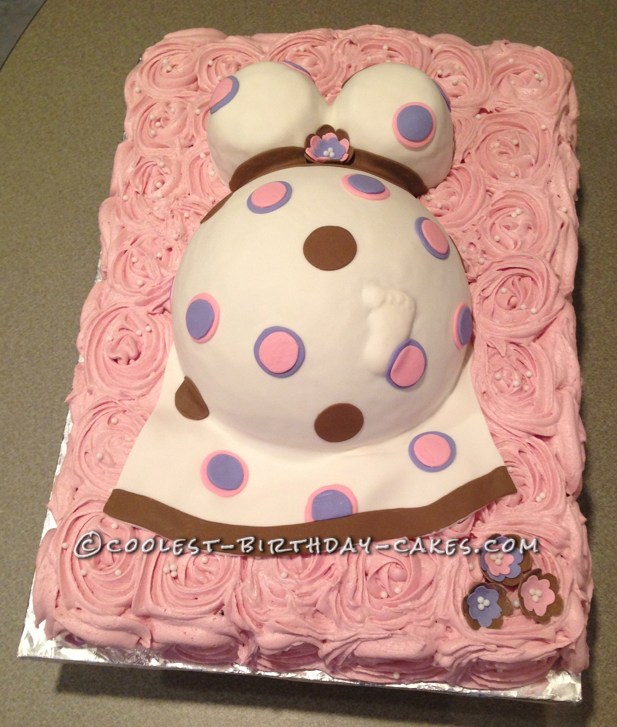 Coolest Pregnant Belly Cake