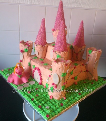 Coolest Homemade Princess Castle Birthday Cake
