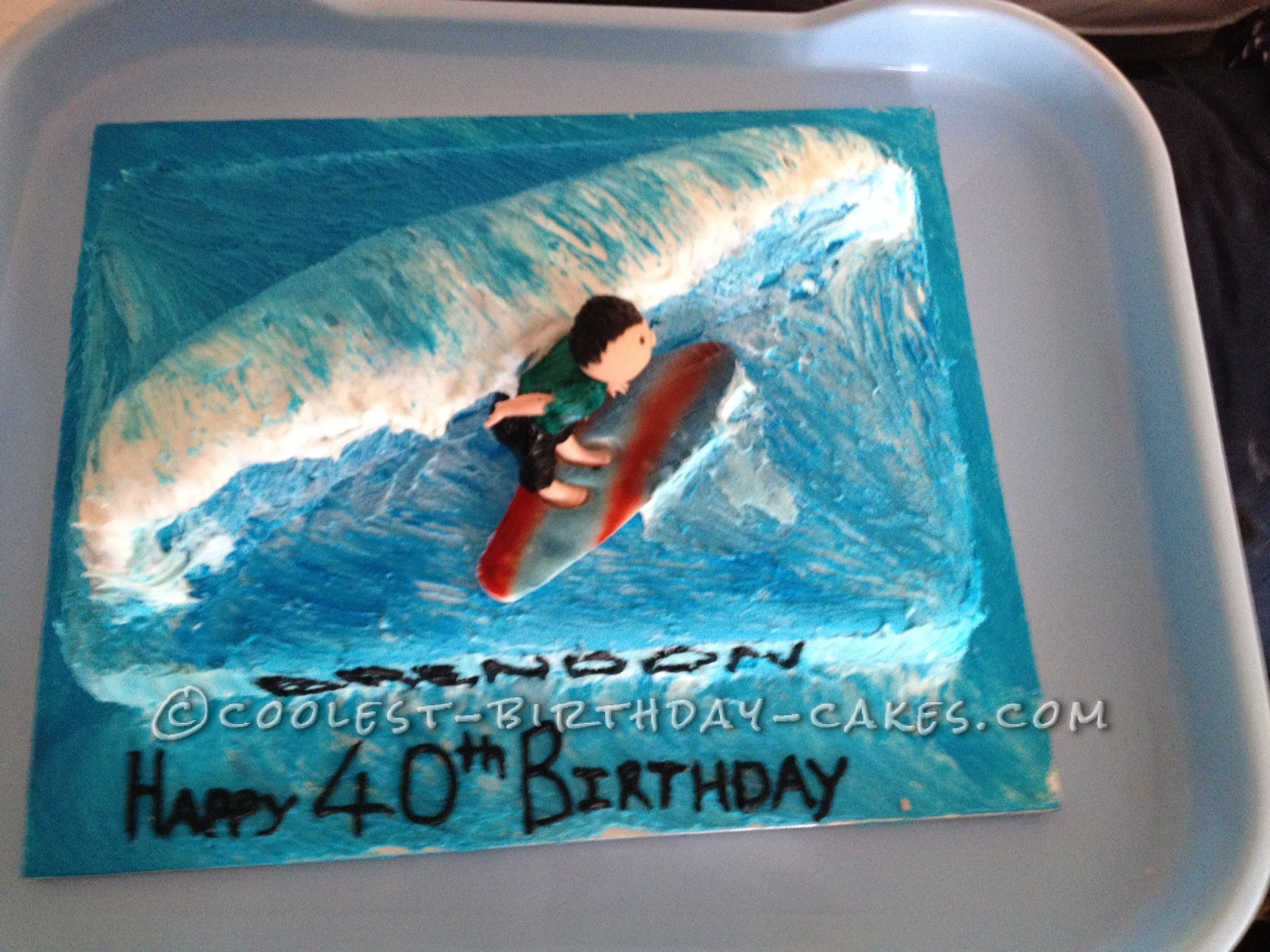 Cool Surfs Up Birthday Cake