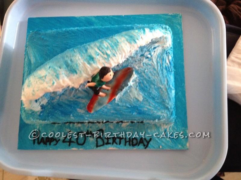Cool Surfs Up Birthday Cake