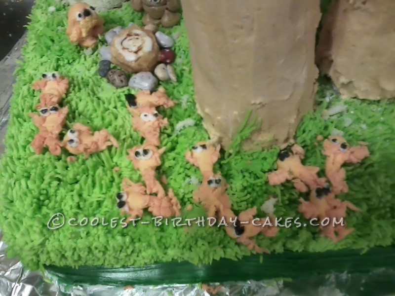 Awesome Dr. Suess Lorax Birthday Cake